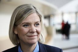 Finansminister Magdalena Andersson (S) tycker att frågan om hur ytterligare finanspolitiska åtgärder ska finansieras är hypotetisk. Arkivbild