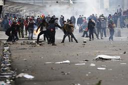 Sammandrabbningar i La Paz på onsdagen.