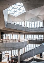 Oslos nya huvudbibliotek är ritat av Lund Hagem arkitekter och Atelier Oslo. Arkivbild.