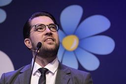Sverigedemokraternas partiledare Jimmie Åkesson. En vinnare i SCB:s novembermätning. Arkivbild.