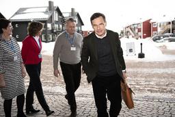 Moderaternas partiledare Ulf Kristersson kommer till Folk och försvars konferens i Sälen.