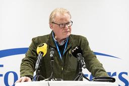 Försvarsminister Peter Hultqvist (S) talar på Folk och försvar på Högfjällshotellet i Sälen.