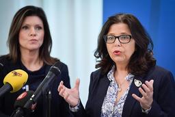 Här är kvinnorna som ska pressa arbetslösheten. Från vänster arbetsmarknadsminister Eva Nordmark (S) och Arbetsförmedlingens nytillträdda generaldirektör Maria Mindhammar. Arkivbild.