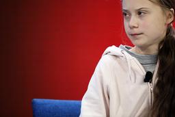 Klimataktivisten Greta Thunberg i Davos i Schweiz.