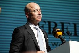 Jeff Bezos. Bild tagen då han i Istanbul deltog i högtidlighållandet på ettårsdagen av Jamal Khashoggis död.