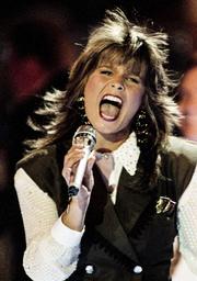 Tillsammans med sin fläkt vann Carola Eurovision Song Contest 1991 med bidraget 'Fångad av en stormvind'. Arkivbild.