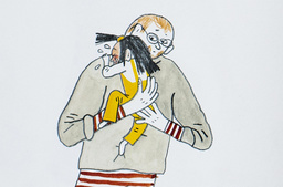Som liten behöver man få öva på att det inte är farligt att vara ledsen, menar Emma Adbåge, som illustrerat boken 'Ledsen', med text av Lotta Olsson. Beskuren bild ur boken.