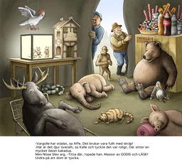 Skrotnisse måste rädda ett gäng djur som har ätit för mycket godis i 'Skrotnisse och hans nya vänner'. Pressbild.