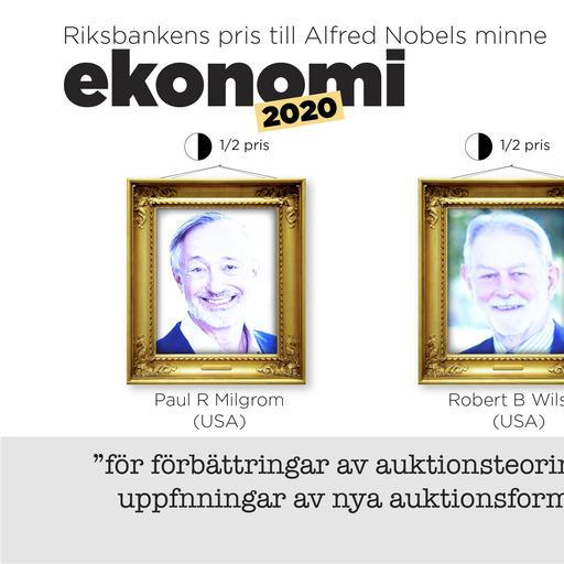 Paul Milgrom och Robert Wilson får Riksbankens ekonomipris till Alfred Nobels minne för sina studier om hur auktioner fungerar och utformning av nya modeller för auktioner.