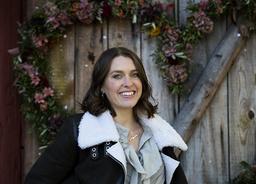Mjölkbonden Susanna Karlsson från Valdemarsvik i samband med att hon deltog i tv-serien Bonde söker fru. Arkivbild.