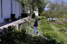 Visningsträdgården på Körsbärsgården anlades på 1940-talet. Även då var Körsbärsgården en plats dit konstnärer gärna kom. Arkivbild.