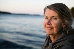 Marita Jonsson tog över Körsbärsgården 2002 tillsammans med sin man Jon Jonsson. Pressbild.