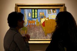 'Sovrum i Arles' finns i tre versioner. Här den första versionen, som Vincent van Gogh målade i oktober 1888. Rummet låg på andra våningen i ett gult hus i den sydfranska småstaden Arles. Huset är förevigat i målningen 'Det gula huset'. Arkivbild.